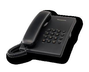 Telefonas Panasonic KX-TS500FXB 475 g, 150 x 200 x 96 mm, Black