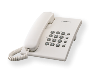 Telefonas Panasonic KX-TS500FX 475 g, 150 x 200 x 96 mm, White