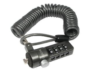 Kompiuterio užraktas Logilink NBS004, Notebook Coil Cable Lock, black Logilink
