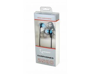 Ausinės Gembird MHS-EP-002 Metal įstatomos į ausis, su mikrofonu