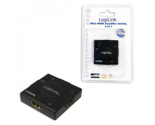 Adapteris Logilink HDMI Switcher with Amplifier