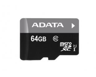 Atminties kortelė ADATA Premier UHS-I 64GB Micro SDXC CL10 su SD adapteriu
