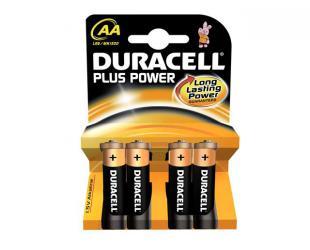 Baterijos Duracell AA/LR6, Alkaline Plus Power MN1500, 4 vnt
