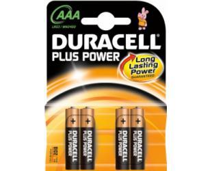 Baterijos Duracell AAA/LR03, Alkaline Plus Power MN2400, 4 vnt