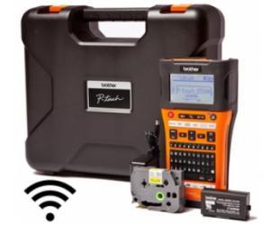 Terminis etikečių spausdintuvas Brother PT-E550WVP Thermal, Label Wi-Fi, Black, Orange