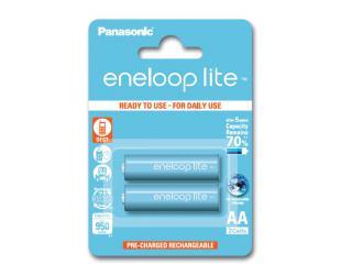 Įkraunamos barterijos Panasonic eneloop AA/HR6, 950 mAh, Ni-MH, 2 vnt, Ready to use