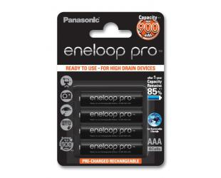 Įkraunamos barterijos Panasonic eneloop AAA/HR03, 900 mAh, Ni-MH, 4 vnt