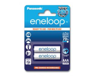Įkraunamos barterijos Panasonic eneloop AAA/HR03, 750 mAh, Ni-MH, 2 vnt