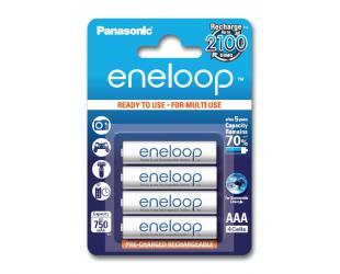 Įkraunamos barterijos Panasonic eneloop AAA/HR03, 750 mAh, Ni-MH, 4 vnt