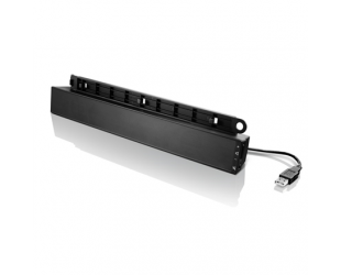 Kolonėlės Lenovo USB Soundbar 0A36190 Speaker type Soundbar, USB, Black, 2.5 W