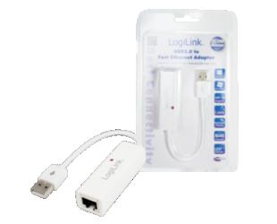 LAN adapteris Logilink Fast Ethernet USB 2.0 to RJ45 Adapter: RJ-45, USB