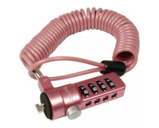 Kompiuterio užraktas Logilink NBS007, Notebook Coil Cable Lock, pink Logilink