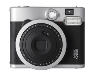 Momentinis fotoaparatas Fujifilm Instax Mini 90 NEO CLASSIC + Instax mini glossy popierius (10 vnt) Black/Stainless steel