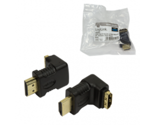 Adapteris HDMI Adapter small size, AM to AF in 90 degree Logilink