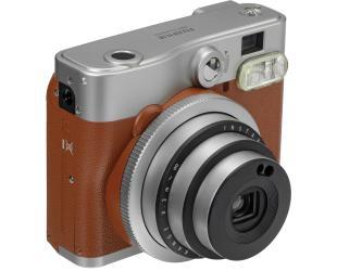 Momentinis fotoaparatas Fujifilm Instax Mini 90 NEO CLASSIC + Instax mini glossy popierius (10 vnt) Brown/Stainless steel