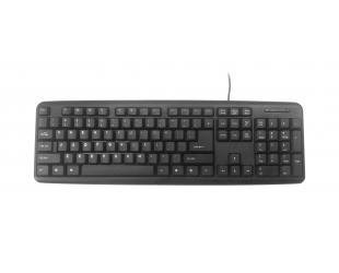 Klaviatūra Gembird KB-U-103-RU Standard, Wired, Keyboard layout EN/RU, 1.4 m, Black, 424 g