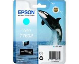 Rašalo kasetė Epson T7602, Cyan
