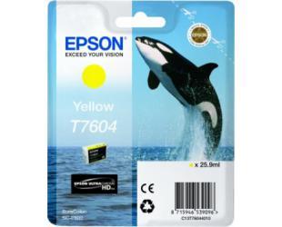 Rašalo kasetė Epson T7604, Yellow