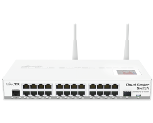 Komutatorius (Switch) MikroTik Cloud Router CRS125-24G-1S-2HND-IN Managed