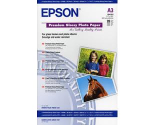 Foto popierius Epson Premium Glossy A3, 250g/m2, 20 vnt.