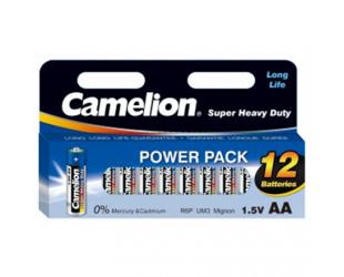 Baterijos Camelion AA/R06, Super Heavy Duty, 12 vnt