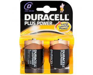 Barterijos Duracell D/LR20, Alkaline Plus Power MN1300, 2 vnt