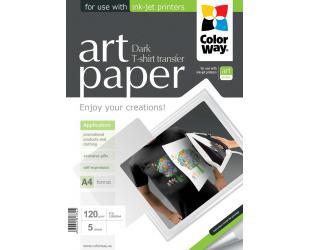 Lipdukas marškinėliams ColorWay ART T-shirt transfer (dark), 5 vnt., A4, 120 g/m²