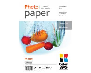 Popierius ColorWay Matte Photo Paper, 50 sheets, A4, 190 g/m²