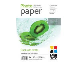 Foto popierius ColorWay Matte Dual-Side Photo Paper, 20 sheets, A4, 220 g/m²