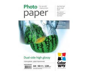 Popierius ColorWay High Glossy dual-side Photo Paper, 50 sheets, A4, 220 g/m²
