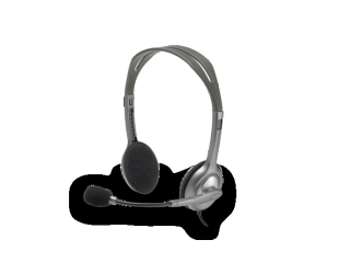 Ausinės Logitech Stereo headset H111 Single 3.5 mm jack, Grey,