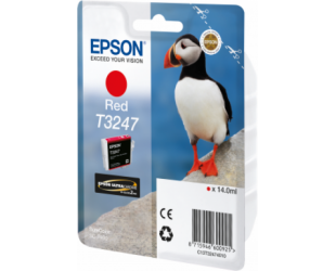 Rašalo kasetė Epson T3247, Red