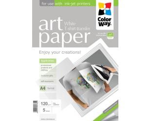 Foto popierius ColorWay ART Photo Paper T-shirt transfer (white), 5 sheets, A4, 120 g/m²