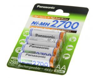 Įkraunamos barterijos Panasonic AA/HR6, 2450 mAh, Ni-MH