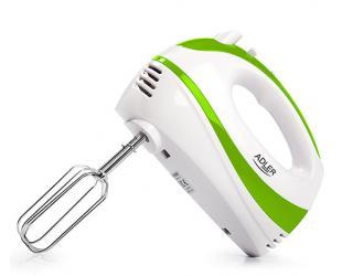 Mikseris Adler AD 4205 g Hand, 300 W, greičio režimų skaičius 5, Turbo mode, White/Green