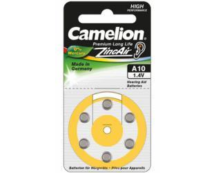 Barterijos Camelion A10/DA10/ZL10, Zinc air cells, 6 vnt