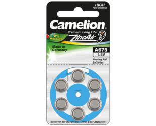 Barterijos Camelion A675/DA675/ZL675, Zinc air cells, 6 vnt