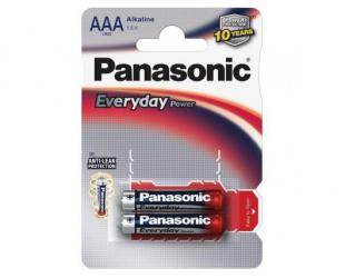 Barterijos Panasonic Everyday Power AAA/LR03, Alkaline, 2 vnt