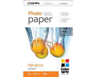 Foto popierius ColorWay A4, High Glossy Photo Paper, 50 Sheets, A4, 180 g/m²