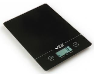 Virtuvinės svarstyklės Adler Kitchen scales Adler AD 3138 Maximum weight (capacity) 5 kg, Graduation 1 g, Display type LCD, Black