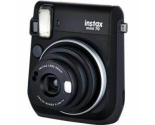 Momentinis fotoaparatas Fujifilm Instax Mini 70 + Instax mini glossy popierius (10 vnt) Black