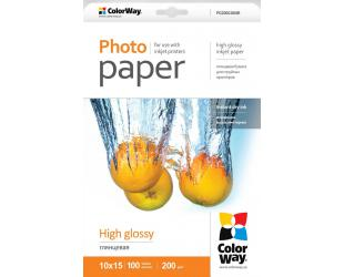 Foto popierius ColorWay High Glossy, 100 vnt., 10x15, 200 g/m²