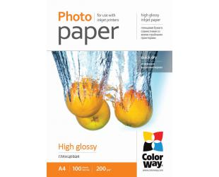 Foto popierius ColorWay High Glossy, 100 vnt., A4, 200 g/m²