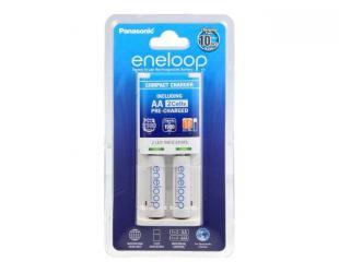 Įkroviklis Eneloop Basic charger K-KJ50MCC20E + 2  AA batteries (1900mAh) Panasonic K-KJ50MCC20E Ni-MH, Kit contents   2 x AA rechargeable batteries (