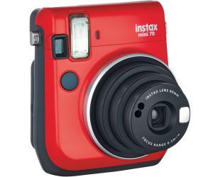 Momentinis fotoaparatas Fujifilm Instax Mini 70 + Instax mini glossy popierius (10 vnt) Red