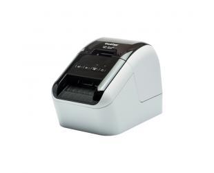 Terminis etikečių spausdintuvas Brother QL-800 Mono, Thermal, Label Printer, Other, Black, Grey
