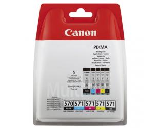 Rašalo kasetė Canon Multipack PGI-570/CLI-571 , 2 x Black + 3 Colour Multipack (cyan, magenta, yellow)