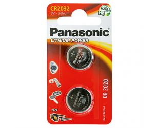 Barterijos Panasonic CR2032, Lithium, 2 vnt