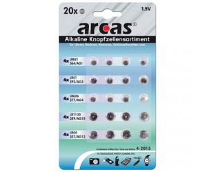 Barterijos Arcas AG Set 4xAG1, 4xAG3, 4xAG4, 4xAG10, 4xAG13, 20 vnt