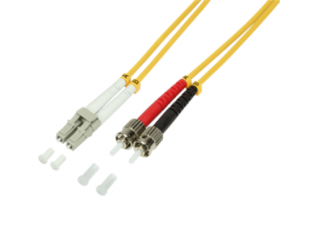 Kabelis Logilink Fiber Patch Cord OS2 9/125µ LC-ST, singlemode, 2,0m Logilink Fiber Patch Cord OS2 9/125µ LC-ST 2,0m